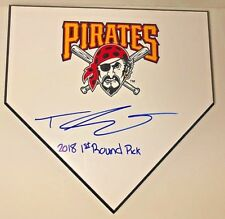 TRAVIS SWAGGERTY SIGNED AUTOGRAPH HOME PLATE COA PROOF PITTSBURGH PIRATES AUTO
