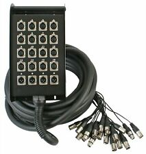 Pulse XLR Multicore Stagebox Snake 16 Inputs 4 Outputs 15m Stage Theatre PA