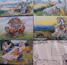 5 Postkarten Trolle Rolf Lidberg verschiedene Motive