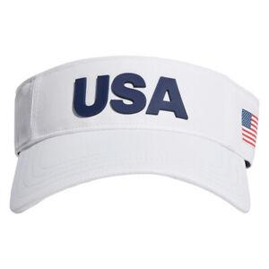 Adidas Golf USA Tour Adjustable Visor, White