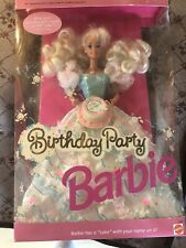 Mattel Barbie Doll Birthday Party #3388 NRFB 1992 Special Edition With Cake