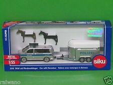 1:55 Siku Super 2310 VW T5 Multivan mit Pferdeanhänger Blitzversand DHL-Paket