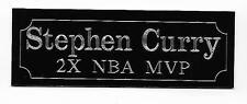Custom 2 line 1x3 Engraving for sports plaque or memorabilia