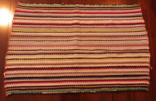 "Rag Rug Light Multi Colored Pattern Home Flooring Decor Factory Made 28"" x 20"""