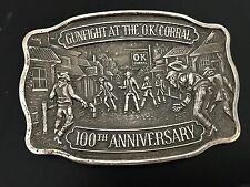 Solid Sterling Silver Gunfight At The O.K.Corral 100th Anniversary  Buckle #24