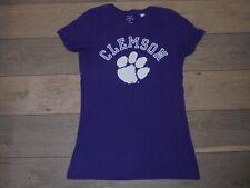 Original League Collegiate Outfitters purple CU Clemson Tigers shirt size M
