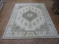 12 x 14'9 Hand Knotted Ivory Sultanabad Oushak Oriental Rug Ushak G8099