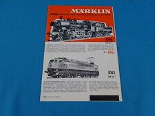 MARKLIN HAMO Leaflet NL 1967