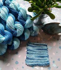 Vegan yarn. Mercerised cotton yarn. DK, not wool.