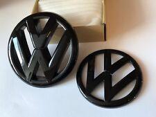 Volkswagen VW Emblem Symbol Zeichen Schwarz Glanz Golf 6 MK6 Set Vorne Hinten