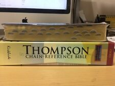 KJV Thompson Chain- Reference Bible Burgundy Bonded Leather Thumb Indexed NEW