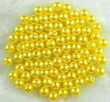 100Pcs 6mm Acrylic Round Pearl Spacer Loose Beads Children DIY Jewelry Making