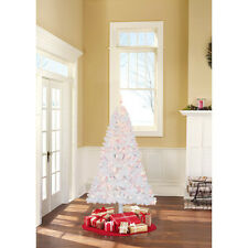 Christmas Tree and Stand 6.5 Ft Pre-Lit Madison Pine Clear or Color Lights NEW