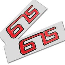 Street Triple 675 Grafiken Aufkleber Aufkleber X 2 Rot Weiss Schwarz
