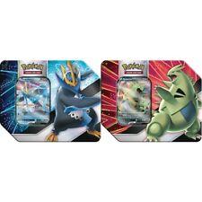 Pokemon Tyranitar & Empoleon V Striker Estaño Conjunto de 2 barcos! Sellado de fábrica 6/18