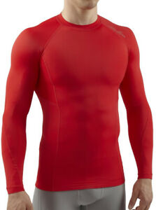 Sub Sports Elite RX Mens Compression Top Red Long Sleeve Baselayer Sport XS L XL