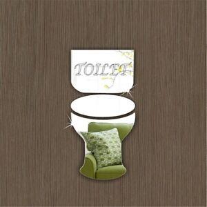 Toilet Door Sign Plaque Home Office School Hotel Signage Acrylic Mirrors Gift