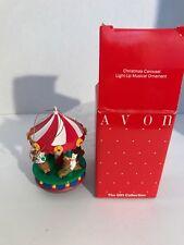 AVON - Vintage in Box - Christmas Carousel Light up Musical Ornament