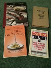 Lot of 4 Food Diet Book microwave fish  Low Calorie Metabolism Caffeine Blues