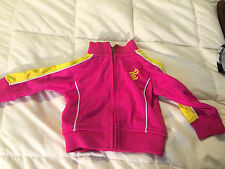 YOUTH TODDLER ROCAWEAR CLASSIC PINK YELLOW ZIPPER FRONT JACKET SIZE 12M 12 MONTH
