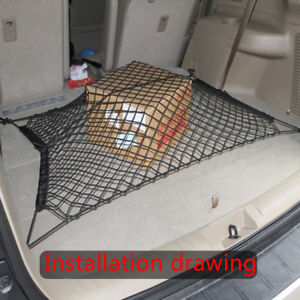 Car SUV Elastic Nylon Rear Cargo Trunk Storage Organizer Flexible Net Accessory