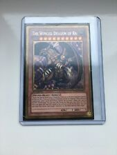 YuGiOh 1st Edition Secret Prismatic Rare The Winged Dragon Of Ra PGLD-EN031 Mint