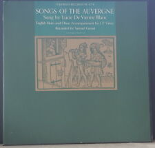 SONGS OF THE AUVERGNE - LUCIE DE VIENNE BLANC J.P. VINAY 1960 FOLKWAYS FW 8778