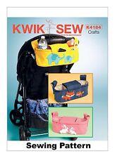 Kwik Sew K4184 PATTERN Rabbit, Fox & Elephant Stroller Organizer Bags OSZ