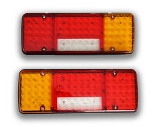 PAIR 12V 92 LED REAR LIGHTS LAMPS FOR TRUCK TRAILER LORRY VAN UNIVERSAL USAGE