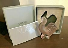 LALIQUE CRYSTAL ROOSTER Cockerel Lilac Purple FRANCE New in Box Cachet