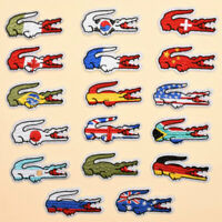 Alligator National Flag Embroidered Patches Sew Iron On Clothes Fabric Appliques