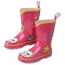 Kidorable Kids Children Boys Girls Waterproof Wellies Wellington Rain BOOTS UB100LC12 Lucky Cat UK Size 12