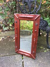 Slim window mirror, Hanging Wooden Mirror, Oak Style Mirror