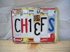 OOAK Kansas City Chiefs License Plate Sign Tailgate NFL Football Mancave