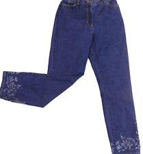 Petite Sophisticate Women's Size 0 High Waist Jeans Beaded Embellished Dark Wash
