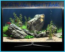 VIRTUAL FISH TANK DVD AQUARIUM MARINE FRESH WATER TROPICAL SOOTHING