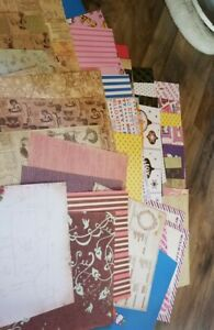 Package #2 - 60 Sheets of Scrapbook Paper - Hello Kitty- Victorian Newspaper...