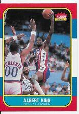 ALBERT KING NETS #59 / 132 1986-1987 Fleer Basketball Card Set Break 86-87 WCSHP