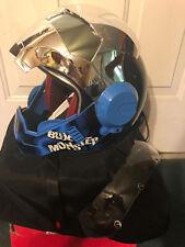MASEI 610 CHROME SHIELD BLUE HULK MOTORCYCLE IPHONE ELECTRIC BIKE HELMET NEW