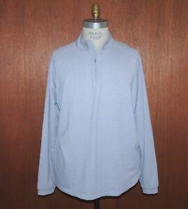 Peter Millar Men's XXL Gray Check 1/4 Zip Pullover