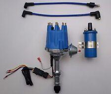 Small Cap BUICK 300 340 350 64-80 PRO SERIES BLUE HEI Distributor +BLUE 45K Coil
