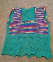 015 Funky Fugly Homemade Knitted Crocheted Women's Sleeveless Sweater Vest