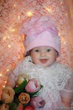 Hand & Heart Hand Crocheted Pink Baby Infant Girl Hat 0-6 Mo 100% Cotton B5