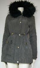 Primark Quilted Khaki Parka Jacket Coat Size 8 EU 36