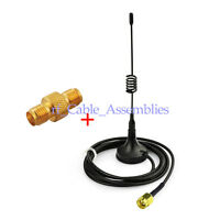 Ham Radio Antenna 433MHz SMA Male Magnetic Base + SMA Female Adapter for BaoFeng
