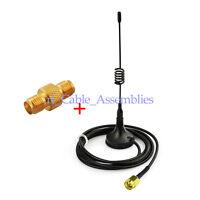 Ham Radio Antenna 433MHz SMA Male Magnetic Base + SMA Female Adapter for BaoFeng
