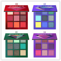 9 Color Cosmetic Matte Eyeshadow Cream Eye Shadow Makeup Palette Shimmer Set HOT