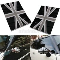 2pcs Union Jack Flag Vinyl Car Side Mirrors Cover Stickers Decal For Mini