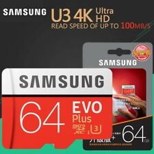 Samsung 64GB Micro SD SDHC Evo+ 100M/s Class 10 U3 Flash Memory Card - UK seller