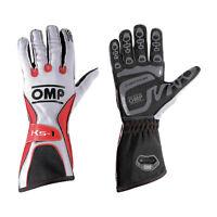 OMP KS-1 White - Red Gloves s. XL